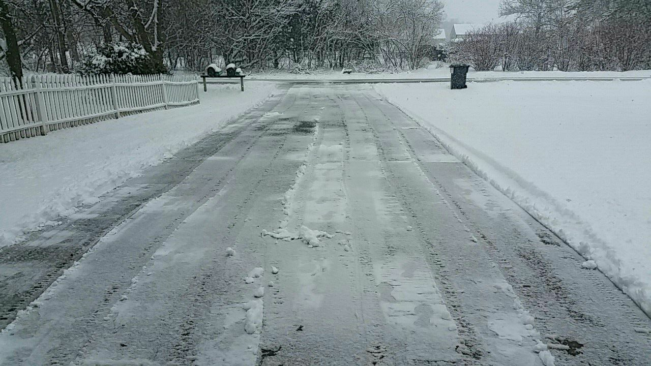 First Ever job of using the snow blower on my driveway